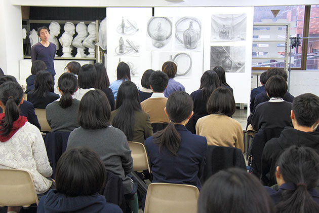 横浜美術学院_授業風景