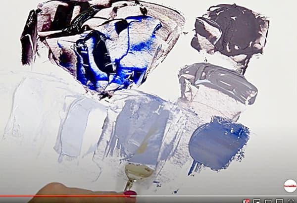油絵具の表現研究:立方体の描写画像