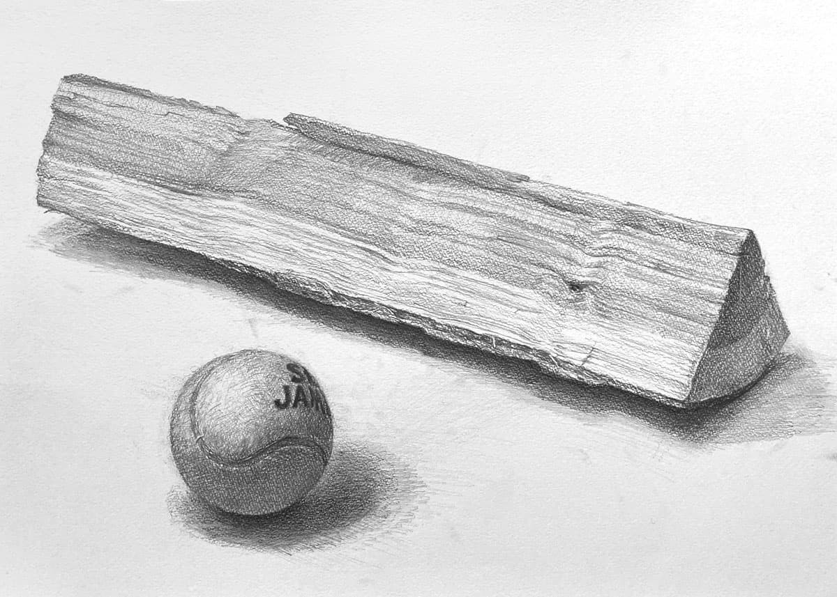 講師作品テニスボールと薪